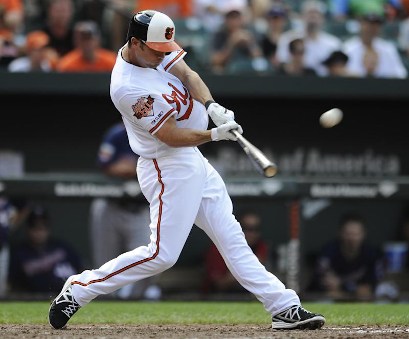 Hardy hits grand slam, Orioles beat Twins 12-8