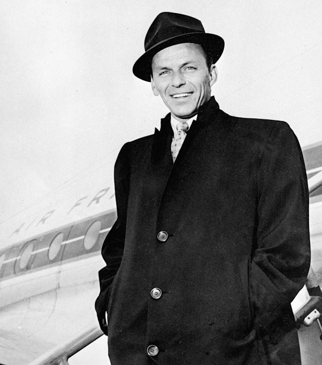 Frank Sinatra arrives at Paris Orly Airport in April 1968. (Photo: AFP/AFP/Getty Images)