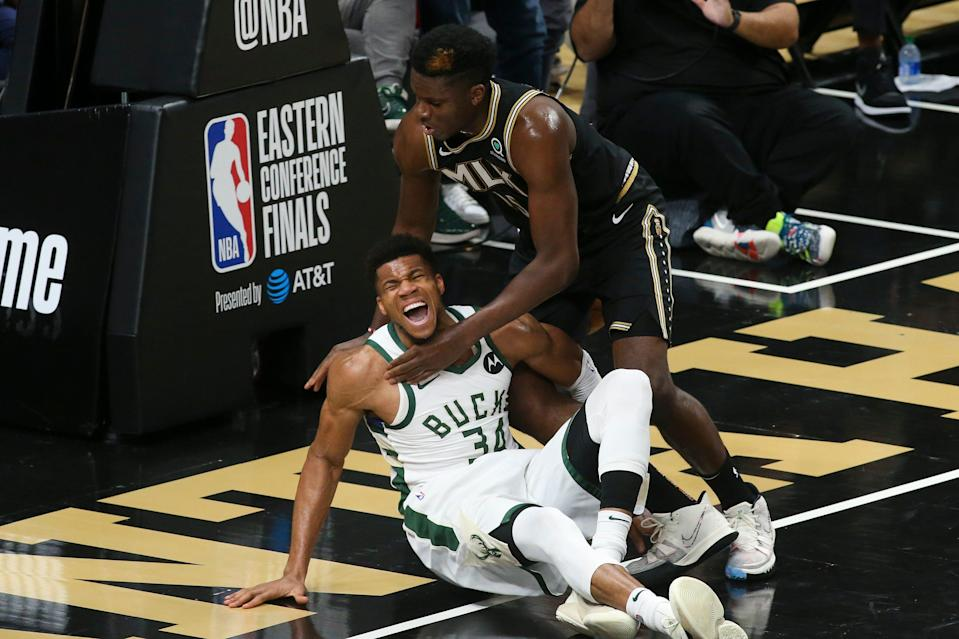 The Bucks had little chance for a comeback after Giannis Antetokounmpo left the game midway through the third quarter.