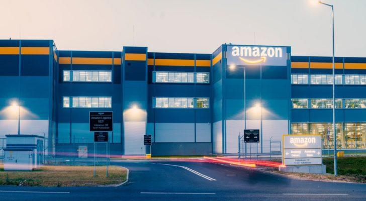 Amazon (AMZN) logistics center in Szczecin, Poland.
