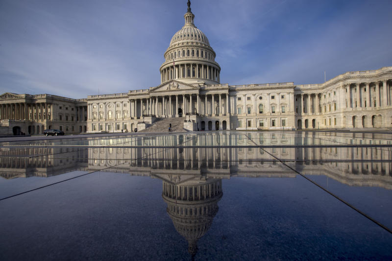 <p> FILE- This Jan. 3, 2018, file photo shows the Capitol in Washington. The government is financed through Friday, Jan. 19, and another temporary spending bill is needed to prevent a partial government shutdown after that. (AP Photo/J. Scott Applewhite, File) </p>
