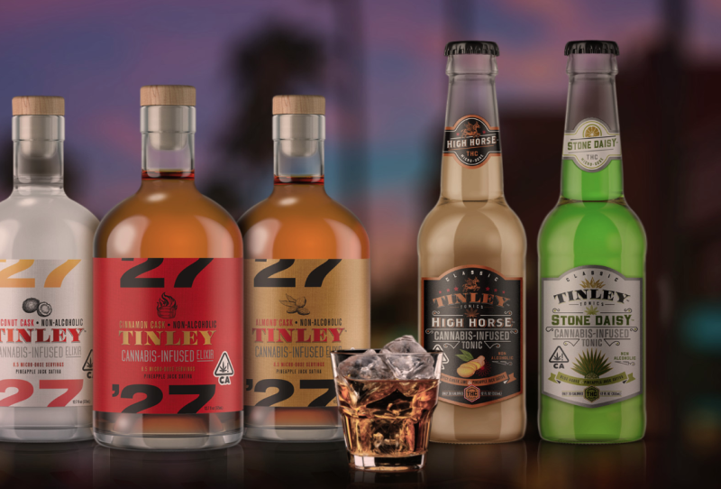 Cannabis-infused beverages, along with edibles, concentrates and topicals, are set to become legal for sale on Oct. 17. (The Tinley Beverage Company)