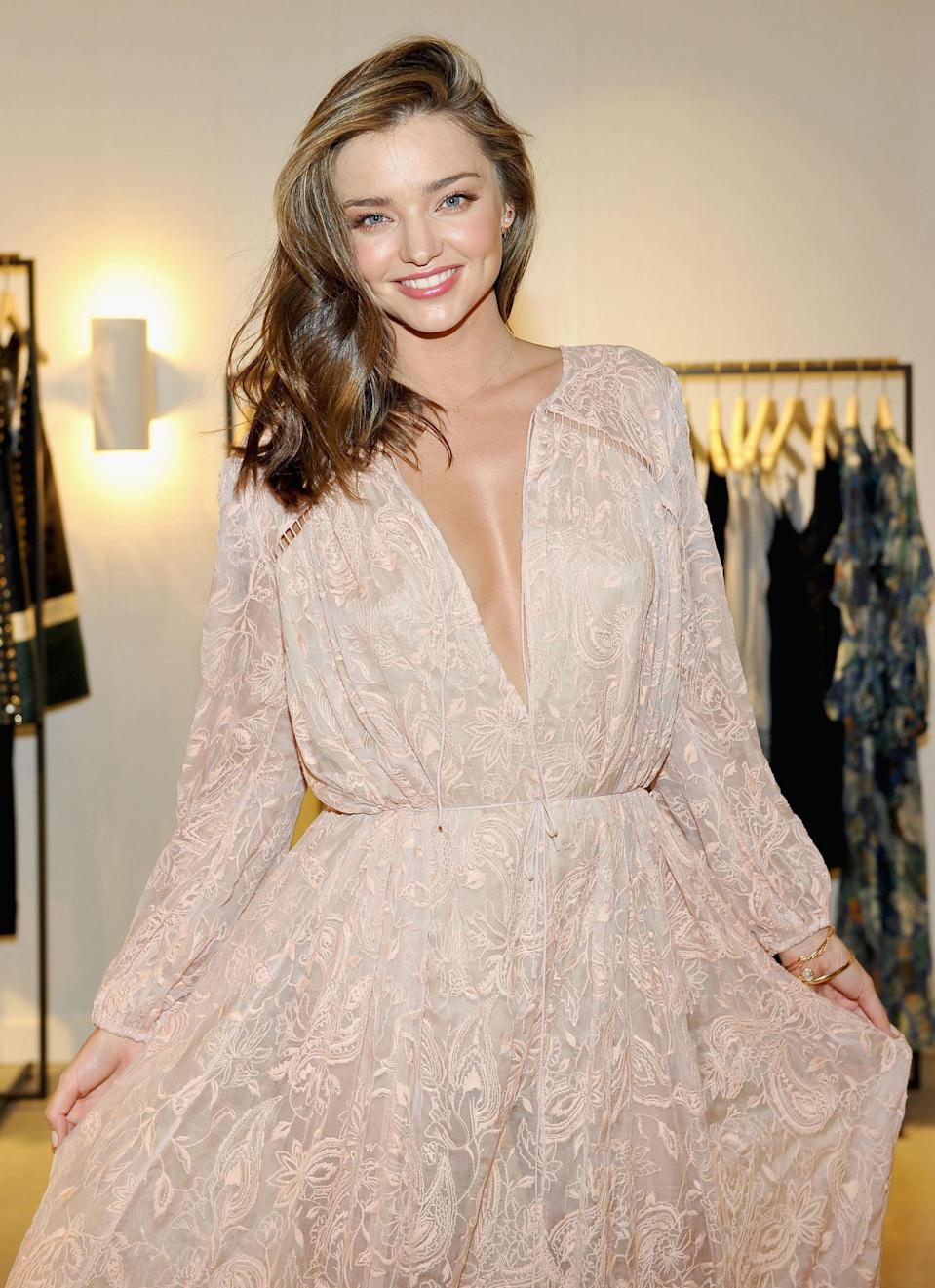 """<p>The only celebrated Australian beauty known in Britain not to have once had a part on <em>Neighbours</em>, Miranda Kerr became at model at 13 and has never looked back, becoming one of the most bankable faces in the world for beauty companies, fashion labels and magazines looking to sell copies including, in 2013, <a href=""""http://www.esquire.co.uk/women/news/a193/women-we-love-miranda-kerr/"""" rel=""""nofollow noopener"""" target=""""_blank"""" data-ylk=""""slk:us"""" class=""""link rapid-noclick-resp"""">us</a>.</p>"""