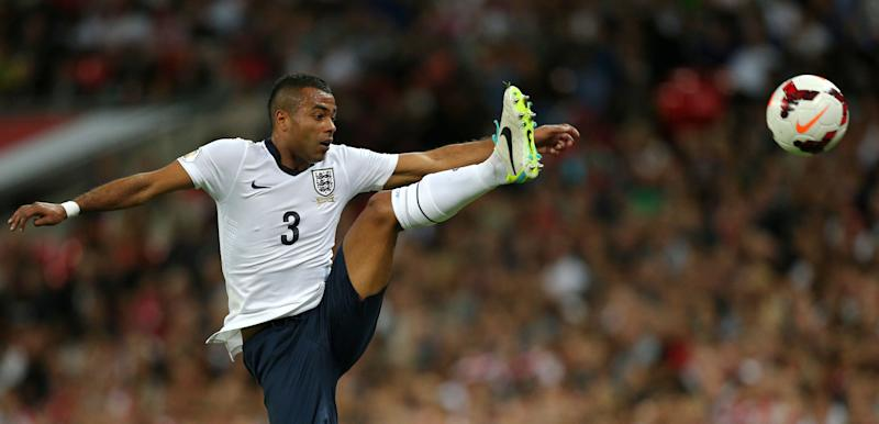 Ashley Cole played 107 times for England (Photo credit should read ADRIAN DENNIS/AFP/Getty Images)
