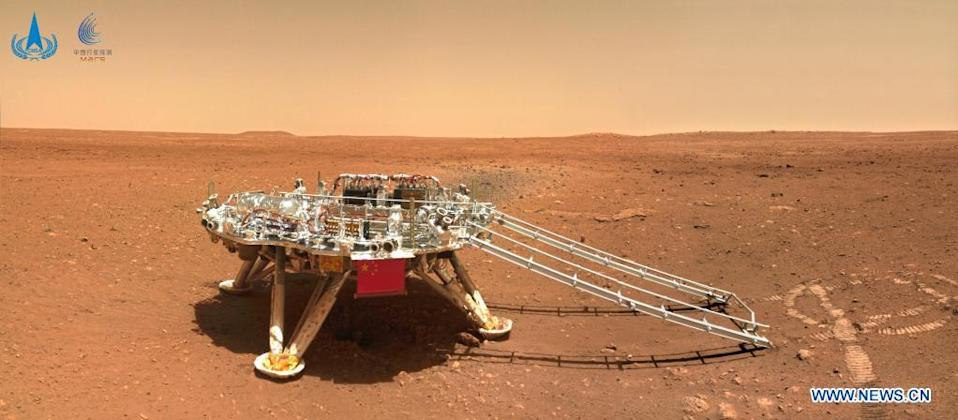 The landing platform of China's first Mars rover Zhurong.