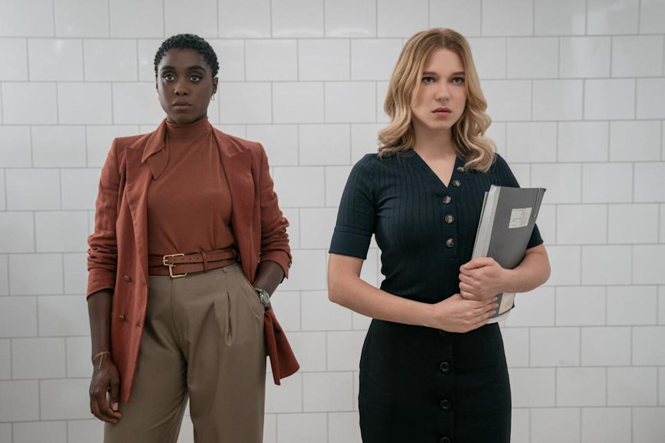 Lashana Lynch and Lea Seydoux in a still from No Time To Die. (Eon/Universal)