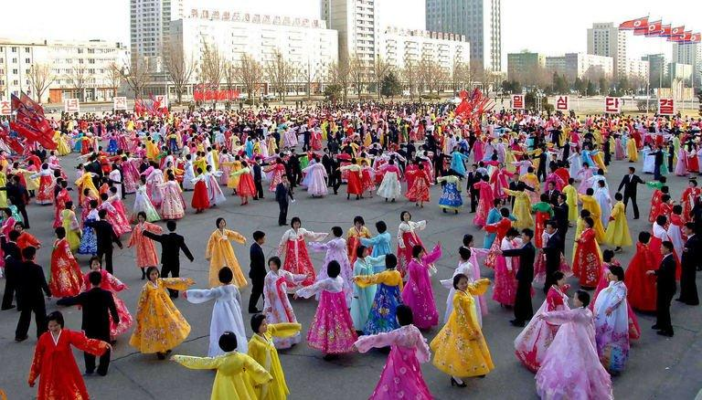 Dancing is held in Pyongyang to celebrate the 20th anniversary of late leader Kim Jong Il's election as chairman of North Korea's National Defence Commission, in this Korean Central News Agency photo from April 9, 2013