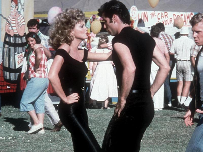 Olivia Newton-John and John Travolta performing 'You're the One That I Want' in 'Grease'Getty