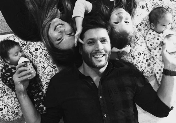 Jensen Ackles Shares First Family Photo With Twins Zeppelin And Arrow
