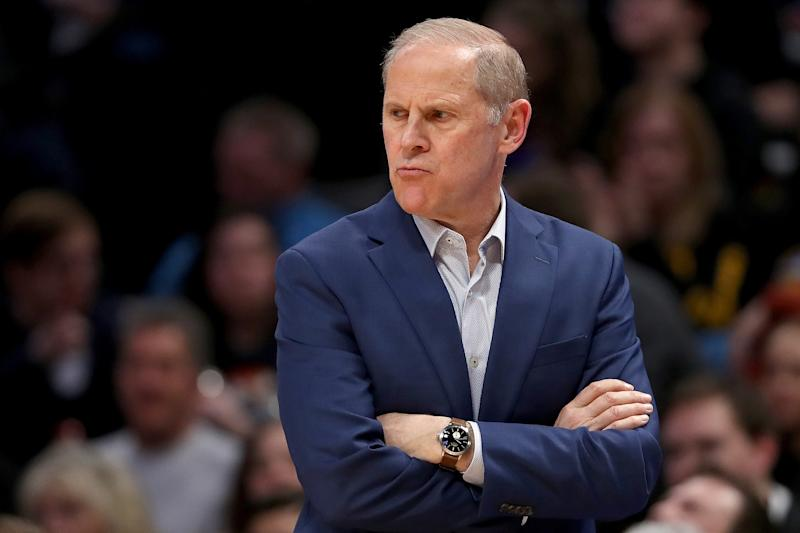 John Beilein looks on from the sidelines while coaching against the Denver Nuggets on Jan. 11, 2020 in Denver, Colorado. (Matthew Stockman/Getty)