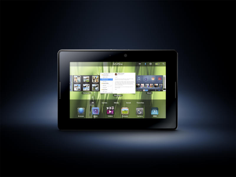 This product image provided by Research In Motion, shows the new Playbook. (AP Photo/Research In Motion) NO SALES