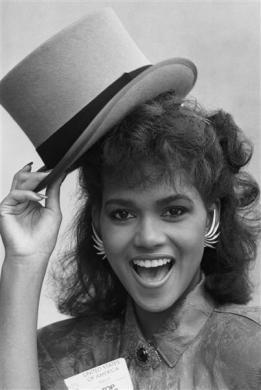 Actress Halle Berry in 1986.