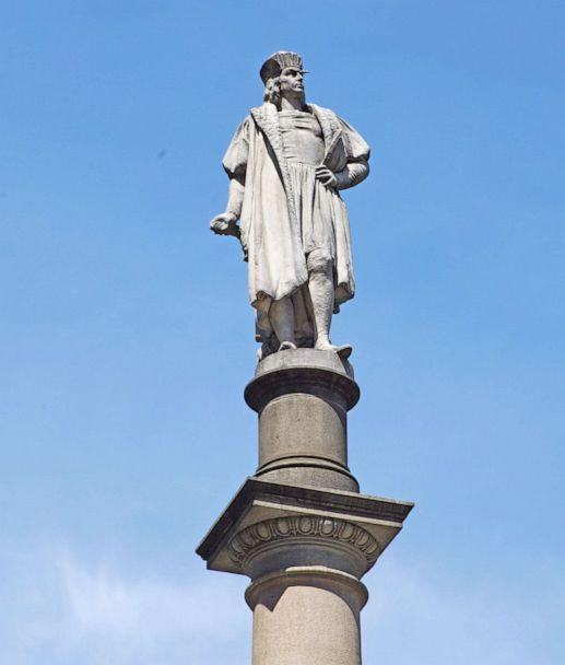 PHOTO: A statue of Christopher Columbus is pictured at Columbus Circle in New York City, June 15, 2020. (Rob Kim/Getty Images)