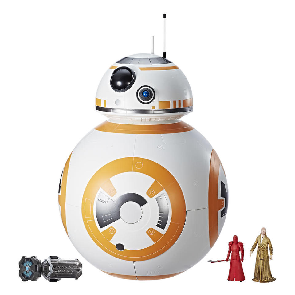 """<p>""""On the outside, this playset resembles the iconic astromech droid BB-8 from <em>Star Wars: The Last Jedi</em>. Open the BB-8 exterior to uncover a multi-level playset where the real fun begins!"""" $199.99 (Photo: Hasbro) </p>"""