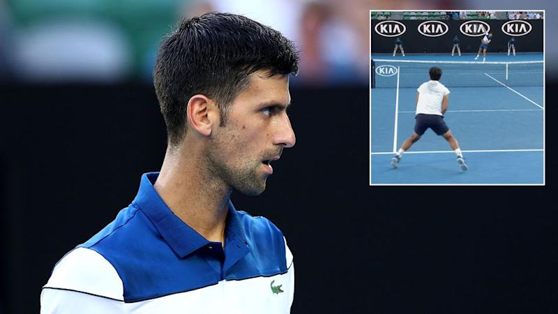 Djokovic's new serving technique was causing him problems. Pic: Getty