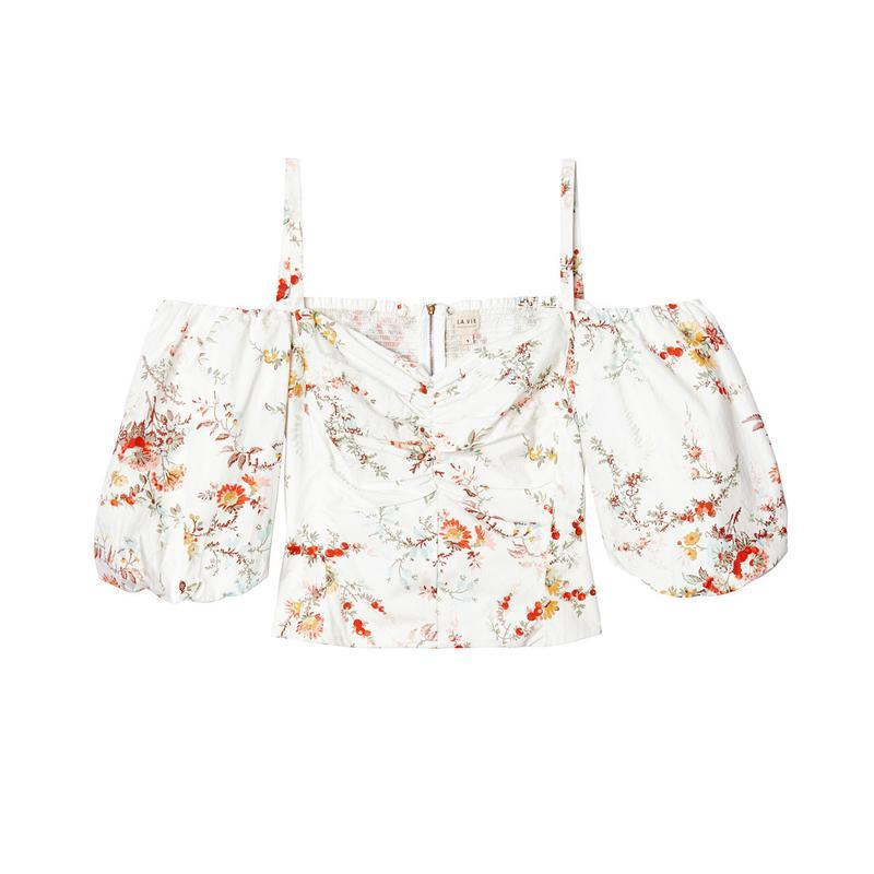 """<a rel=""""nofollow noopener"""" href=""""https://rstyle.me/n/c65rmschdw"""" target=""""_blank"""" data-ylk=""""slk:Off-the-Shoulder Belle Bouquet Poplin Top, La Vie Rebecca Taylor, $195"""" class=""""link rapid-noclick-resp"""">Off-the-Shoulder Belle Bouquet Poplin Top, La Vie Rebecca Taylor, $195</a><p> <strong>Related Articles</strong> <ul> <li><a rel=""""nofollow noopener"""" href=""""http://thezoereport.com/fashion/style-tips/box-of-style-ways-to-wear-cape-trend/?utm_source=yahoo&utm_medium=syndication"""" target=""""_blank"""" data-ylk=""""slk:The Key Styling Piece Your Wardrobe Needs"""" class=""""link rapid-noclick-resp"""">The Key Styling Piece Your Wardrobe Needs</a></li><li><a rel=""""nofollow noopener"""" href=""""http://thezoereport.com/culture/zeitgeist/best-summer-movies-watch-weekend/?utm_source=yahoo&utm_medium=syndication"""" target=""""_blank"""" data-ylk=""""slk:The Best Summer Movies To Watch This Week"""" class=""""link rapid-noclick-resp"""">The Best Summer Movies To Watch This Week</a></li><li><a rel=""""nofollow noopener"""" href=""""http://thezoereport.com/beauty/skincare/extractions-in-facial-treatments/?utm_source=yahoo&utm_medium=syndication"""" target=""""_blank"""" data-ylk=""""slk:Everything You Need To Know About Facial Extractions, Straight From The Experts"""" class=""""link rapid-noclick-resp"""">Everything You Need To Know About Facial Extractions, Straight From The Experts</a></li> </ul> </p>"""