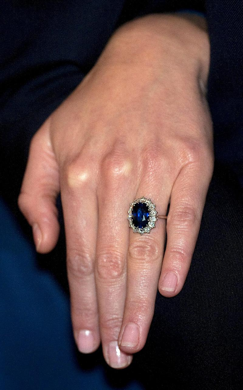 The engagement ring given to the Duchess of Cambridge Kate Middleton - Credit: EDDIE MULHOLLAND/The Telegraph