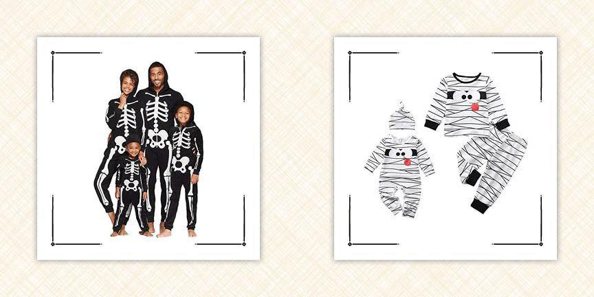 """<p>We're here to let you in on a little-known fact: The Halloween fun doesn't have to end when the trick-or-treating does! These matching Halloween pajamas for the whole family will help you end the spookiest night of the year on a high note—and yes, even your dog is invited to join in on the fun. We've got toddler Halloween pajamas, women's Halloween pajamas, and family Halloween pajamas—oh, and PJs for the pup too! Whether your goal is to chow down on your <a href=""""https://www.countryliving.com/food-drinks/g28326679/best-halloween-candy-ranked/"""" rel=""""nofollow noopener"""" target=""""_blank"""" data-ylk=""""slk:best Halloween candy"""" class=""""link rapid-noclick-resp"""">best Halloween candy</a> in style and comfort, snap a few fun photos for <a href=""""https://www.countryliving.com/life/a23109458/halloween-instagram-captions/"""" rel=""""nofollow noopener"""" target=""""_blank"""" data-ylk=""""slk:Halloween Instagram captions"""" class=""""link rapid-noclick-resp"""">Halloween Instagram captions</a>, or start a memorable post-Halloween <a href=""""http://www.countryliving.com/life/entertainment/g28626922/funny-scary-movies/"""" rel=""""nofollow noopener"""" target=""""_blank"""" data-ylk=""""slk:funny scary movies"""" class=""""link rapid-noclick-resp"""">funny scary movies</a> tradition, Halloween PJs will help you accomplish it. What's more, some of the designs featured here double as simple, affordable <a href=""""https://www.countryliving.com/diy-crafts/g1360/halloween-costumes-for-kids/"""" rel=""""nofollow noopener"""" target=""""_blank"""" data-ylk=""""slk:Halloween costumes for kids"""" class=""""link rapid-noclick-resp"""">Halloween costumes for kids</a> in and of themselves—meaning October 31 is about to get a whole lot less stressful. Printed with cheerful pumpkins, eerie cobweb designs, see-through skeletons and more, these hilarious getups also come in a wide range of sizes, so you don't have to worry about leaving your youngest ones out of the fun! We've also picked out a few patterns featuring your family's most-watched movie franchises that are known for"""