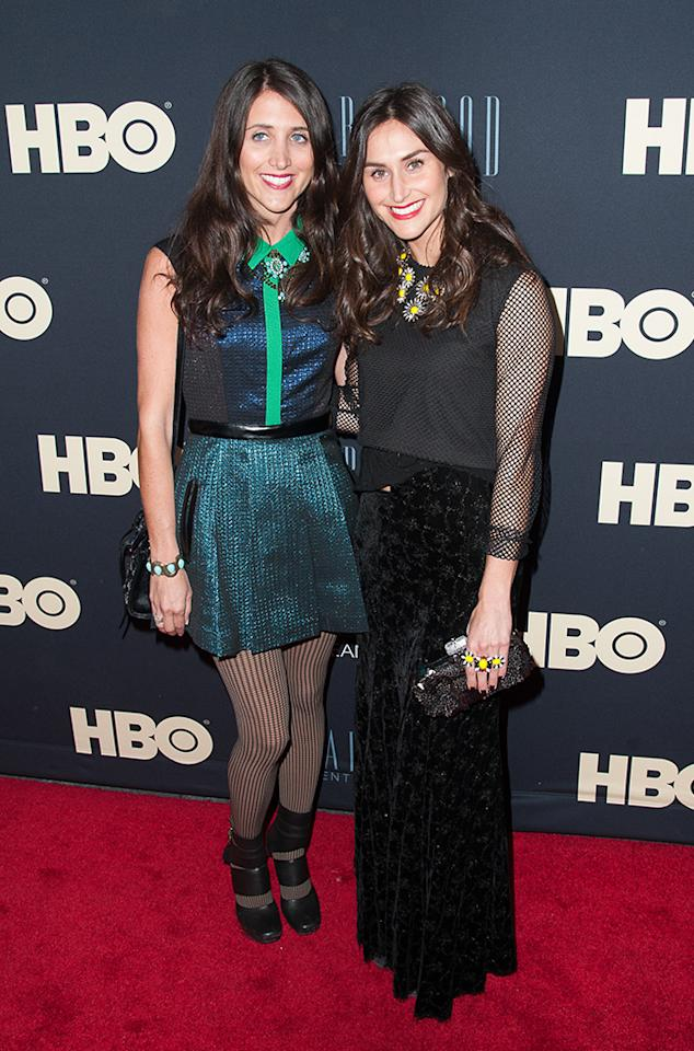 "Danielle Snyder and Jodie Snyder attend the ""Beyonce: Life Is But A Dream"" New York Premiere at Ziegfeld Theater on February 12, 2013 in New York City."