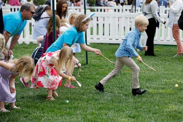 PHOTO: Children take part in the annual Easter Egg Roll at the White House, April 22, 2019.  (Xinhua News Agency via Getty Images, FILE)