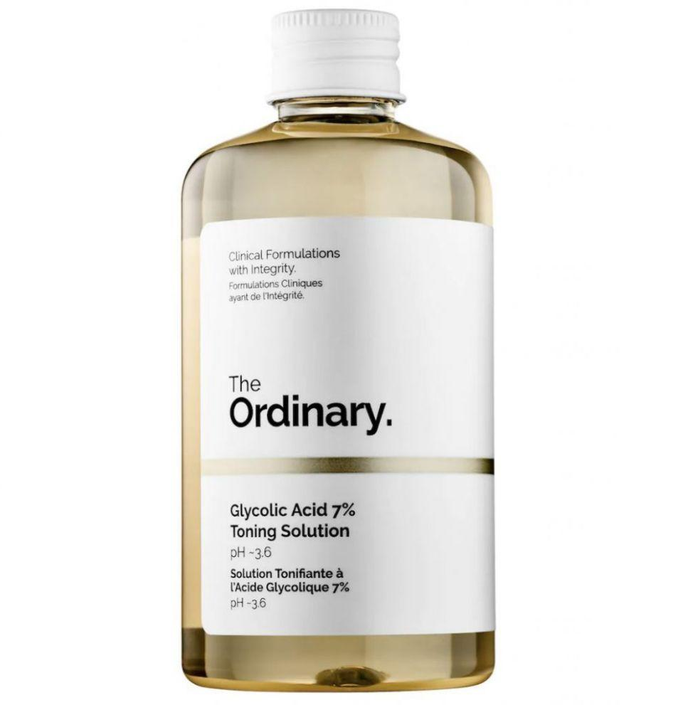 Loción tonificante The Ordinary con ácido glicólico  Créditos: Sephora