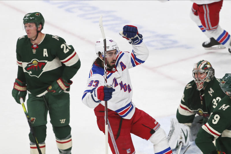 Rangers erase 2-goal deficit, beat Wild 4-3 in shootout