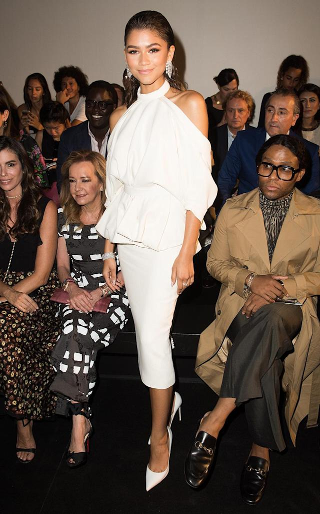<p>Wow! The singer and actress was a wonder in white before catching Ralph & Russo's upcoming looks. (Photo by Samir Hussein/Samir Hussein/WireImage) </p>