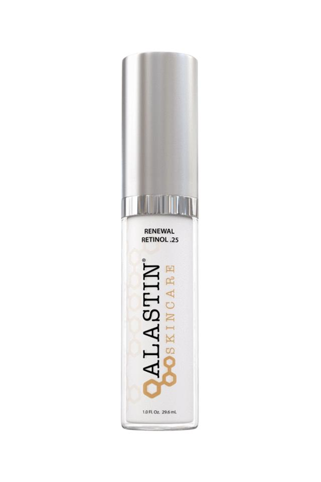 "<p><strong>Alastin Skincare</strong></p><p>skincaresolutionsstore.com</p><p><strong>$55.00</strong></p><p><a href=""https://www.skincaresolutionsstore.com/alastin-skincare-renewal-retinol-25.html?gclid=CjwKCAjw0tHoBRBhEiwAvP1GFaW1p9bWH1hDCIB8VLjZfeS4tvxi4AlPXQe4O1czAh95EMnjsc_Y0RoC53IQAvD_BwE"" target=""_blank"">Shop Now</a></p><p>""Alastin has a great retinol that tends to be less irritating than most,"" says Dr. Idriss. Ideal for those with sensitive skin who want to try retinol, but are worried it might be too strong. </p>"