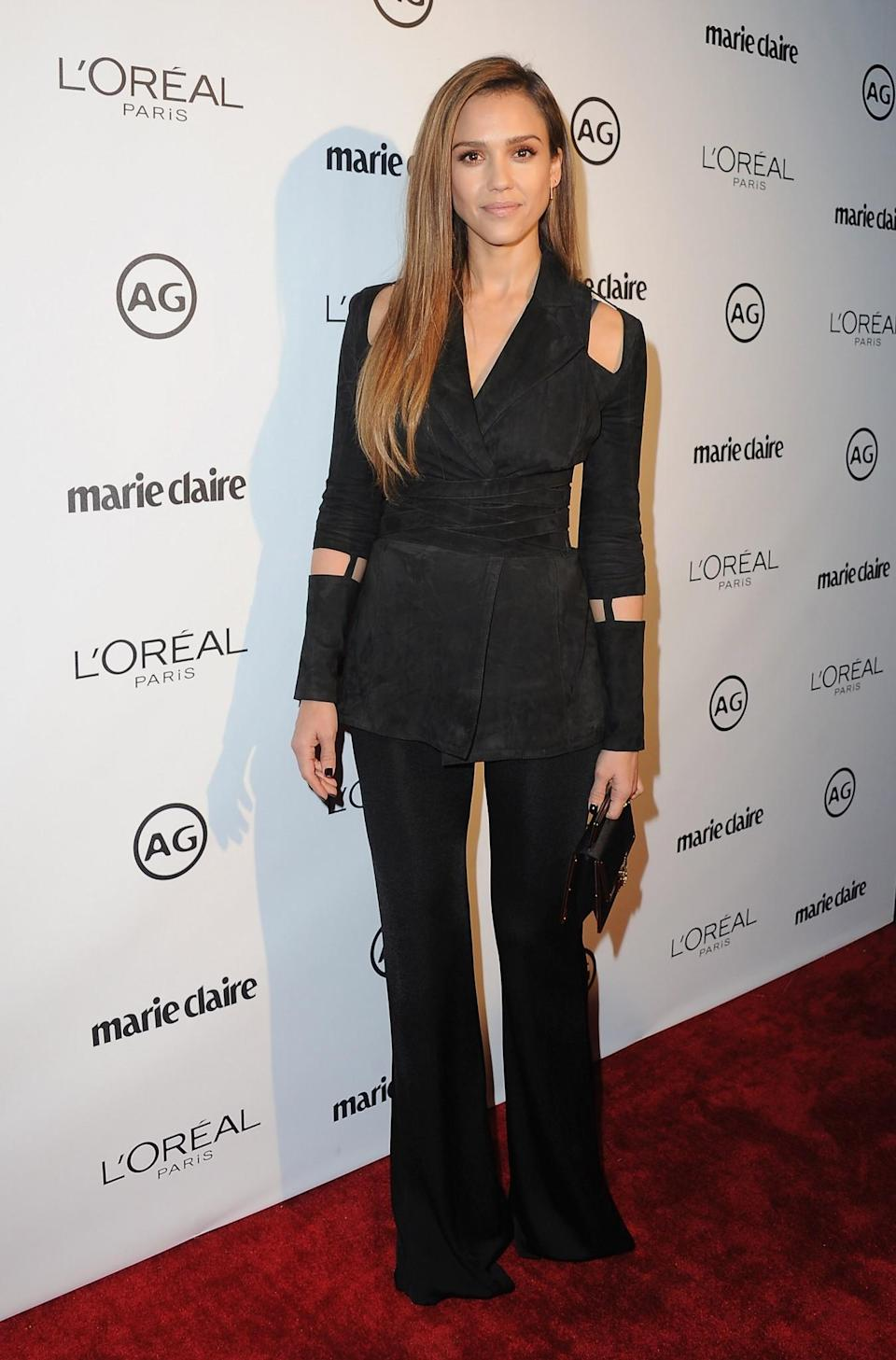 Jessica Alba attended Marie Claire's Image Maker Awards. (Photo: Getty Images)
