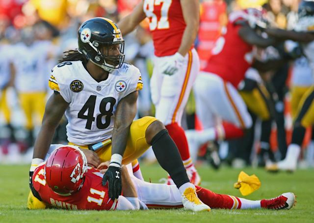 Bud Dupree, Alex Smith, Steelers vs Chiefs, Steelers 2017 season