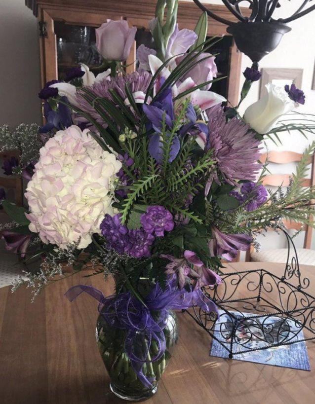 Ms Bailey received flowers from her father five years after he died. Source: Twitter