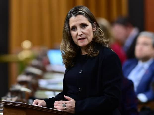 The Liberal convention starts tonight with a keynote conversation between Deputy Prime Minister Chrystia Freeland and former Liberal cabinet minister Ken Dryden.  (Sean Kilpatrick/The Canadian Press - image credit)