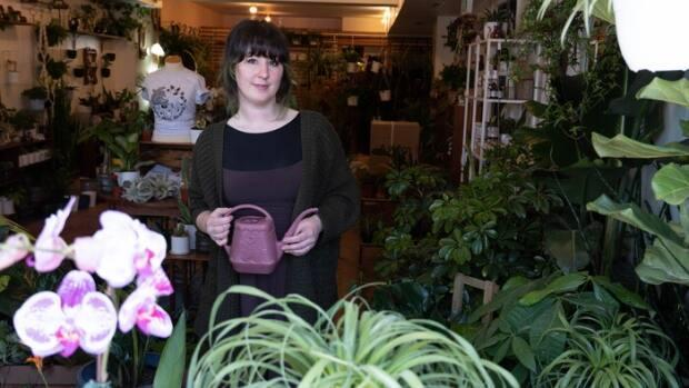 Plant & Curio owner Leslie MacDonald says she has to get her orders in early to get the plants she needs for her customers. (Jean Delisle/CBC - image credit)