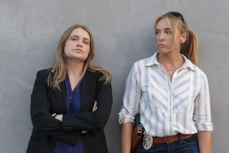 Merritt Weaver and Toni Collette play the role of the detectives who solved Marie's rape in the Netflix series 'Unbelievable'. Source: Netflix