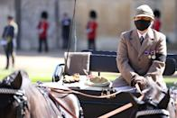 <p>The Duke of Edinburgh's beloved driving carriage was in Windsor Castle's quandrangle ahead of his funeral. (Getty Images)</p>