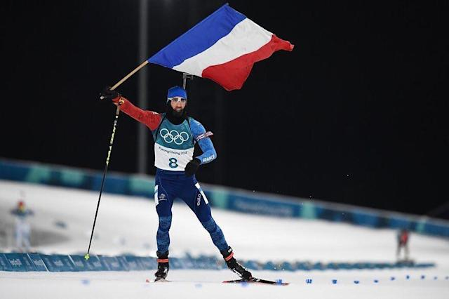 <p>martinfourcade: Champion Olympique! #unrêvedoretdeneige<br> (Photo via Instagram/martinfourcade) </p>