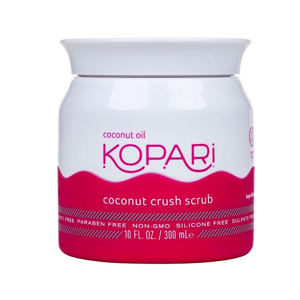 """What do you get when you combine coconut oil with brown sugar? <a href=""""https://shop-links.co/1726641058793591071"""" rel=""""nofollow noopener"""" target=""""_blank"""" data-ylk=""""slk:Kopari's Coconut Crush Scrub"""" class=""""link rapid-noclick-resp"""">Kopari's Coconut Crush Scrub</a>. It's made with an emulsion of crushed Tahitian coconut shells and grainy brown sugar that creates the perfect combination to both hydrate and revive dullness, leaving nothing but a sweet coconut scent and silky smooth skin after rinsing off. —<em>Talia Gutierrez, beauty assistant</em> $39, Kopari Beauty. <a href=""""https://shop-links.co/1726641058793591071"""" rel=""""nofollow noopener"""" target=""""_blank"""" data-ylk=""""slk:Get it now!"""" class=""""link rapid-noclick-resp"""">Get it now!</a>"""