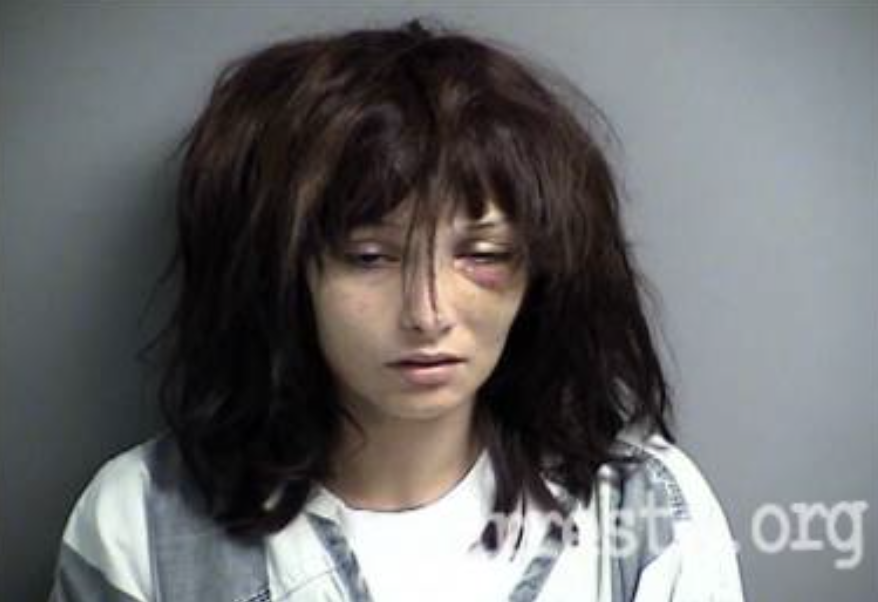 Madison McManus pictured after being arrested on June 24, 2017.