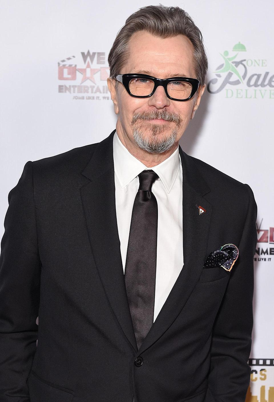 "<p><strong>Number of Marriages: </strong>5</p> <p><a href=""https://people.com/tag/gary-oldman/"" rel=""nofollow noopener"" target=""_blank"" data-ylk=""slk:Oldman"" class=""link rapid-noclick-resp"">Oldman</a>, who has been <a href=""https://people.com/movies/gary-oldman-marries-for-fifth-time/"" rel=""nofollow noopener"" target=""_blank"" data-ylk=""slk:married to writer Gisele Schmidt since 2017"" class=""link rapid-noclick-resp"">married to writer Gisele Schmidt since 2017</a>, has a few marriages under his belt. He was previously married to actress Lesley Manville from 1987 to 1990, and then Uma Thurman from 1990 until 1992. Oldman married Donya Fiorentino in 1997 and the pair divorced in 2001. In 2008, he married Alexandra Edenborough, a union that ended with their 2015 divorce. </p>"