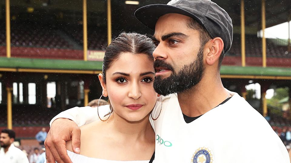 Anushka Sharma, the wife of Indian cricket captain Virat Kohli, has been unfairly blamed by some fans for India's shock loss to Australia in the first Test. (Photo by Matt King - CA/Cricket Australia via Getty Images/Getty Images)
