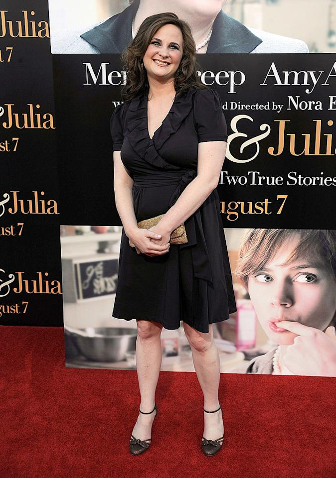 """Author <a href=""""http://movies.yahoo.com/movie/contributor/1809756925"""">Julie Powell</a> at the Los Angeles premiere of <a href=""""http://movies.yahoo.com/movie/1810006886/info"""">Julie & Julia</a> - 07/27/2009"""