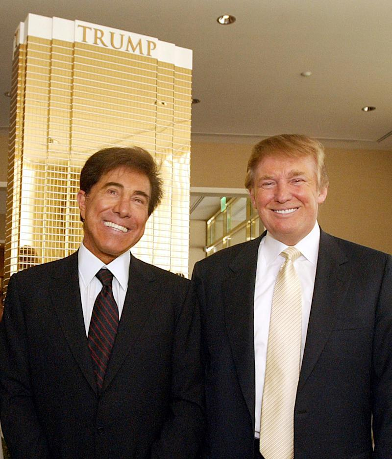 Steve Wynn and Donald Trump, right, were longtime rivals in the casino business. Wynn has supported Trump as president, and serves as finance chairman of the Republican National Committee.