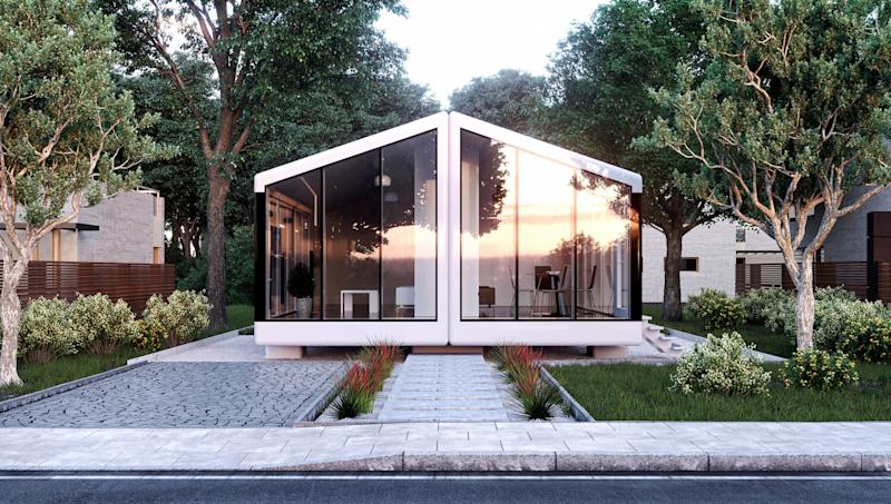 Haus.me's 800 square foot, two-bedroom single family home model