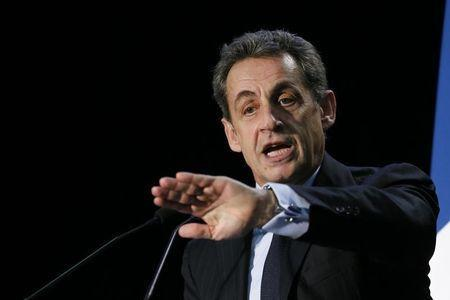 Nicolas Sarkozy, former French president and current UMP conservative political party head, attends a political rally in the Essonne department as he campaigns for French departmental elections in Palaiseau, near Paris, March 16, 2015. REUTERS/Gonzalo Fuentes