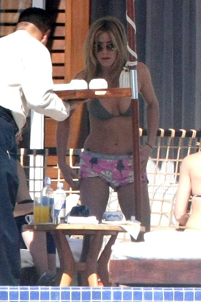 """Most Wanted Celeb Body Part    Fabulously fit figures are a dime a dozen in Hollywood, but when it comes to the celebrity body part most women wish they were blessed with, Jennifer Aniston's abs won by a landslide, with 65% of the vote, even though the 42-year-old's competition were all in their 20s and 30s. Cameron Diaz's arms got 12% of the vote, """"Gossip Girl"""" Blake Lively's legs garnered 11%, royal relative Pippa Midleton's newly famous butt got just 7%, and """"Mad Men"""" star Christina Hendrick's voluptuous chest snagged 5%."""