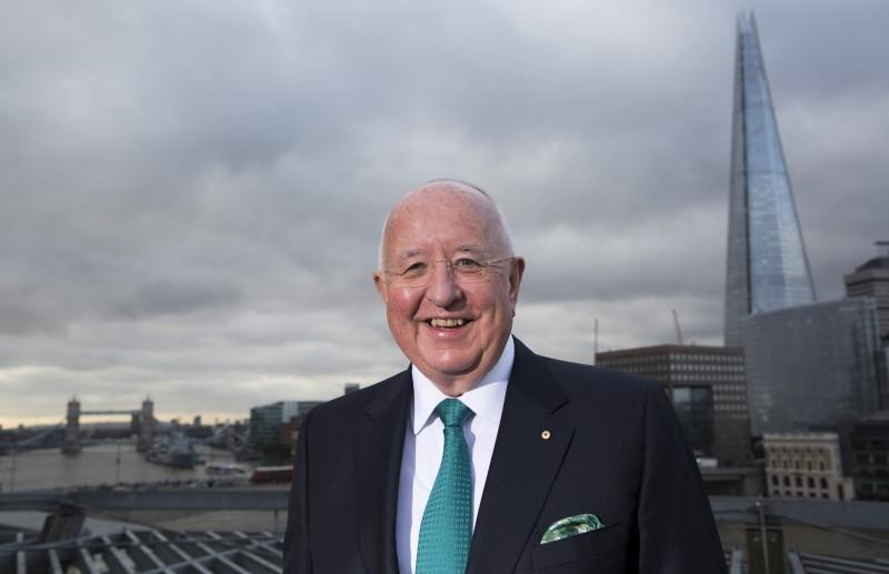 Rio Tinto CEO Sam Walsh poses during a photo call to announce Rio Tinto's 2015 interim results in London, Britain