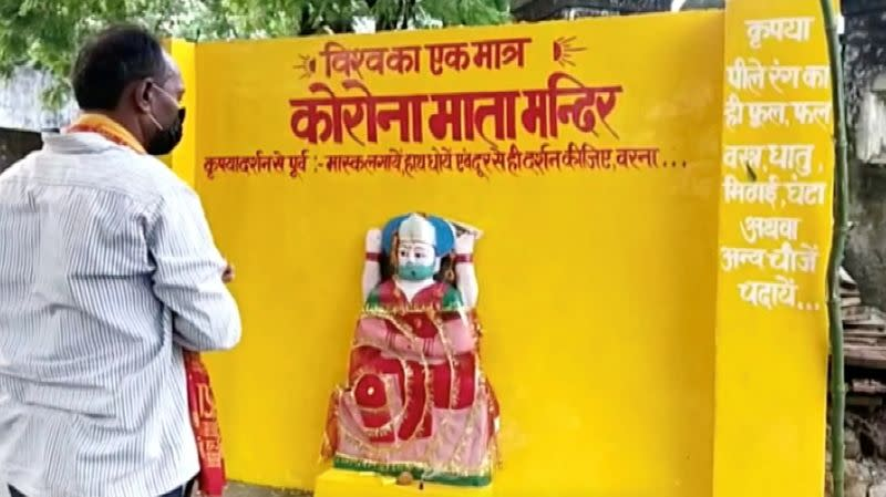 Indian village builds 'goddess corona' temple, offers prayers to get rid of virus
