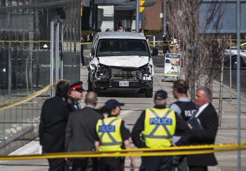 The scene of the attack in Toronto (AP)