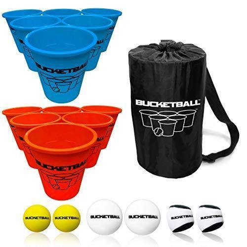 """<p><strong>Bucket Ball</strong></p><p>amazon.com</p><p><strong>$59.99</strong></p><p><a href=""""https://www.amazon.com/dp/B07G7J2DFH?tag=syn-yahoo-20&ascsubtag=%5Bartid%7C10050.g.21095894%5Bsrc%7Cyahoo-us"""" rel=""""nofollow noopener"""" target=""""_blank"""" data-ylk=""""slk:Shop Now"""" class=""""link rapid-noclick-resp"""">Shop Now</a></p><p>Similar to beer pong, this game comes with a carrying case for easy transport. This edition comes with three types of balls: the tailgate balls don't bounce, so you won't be chasing them around the parking lot. </p>"""