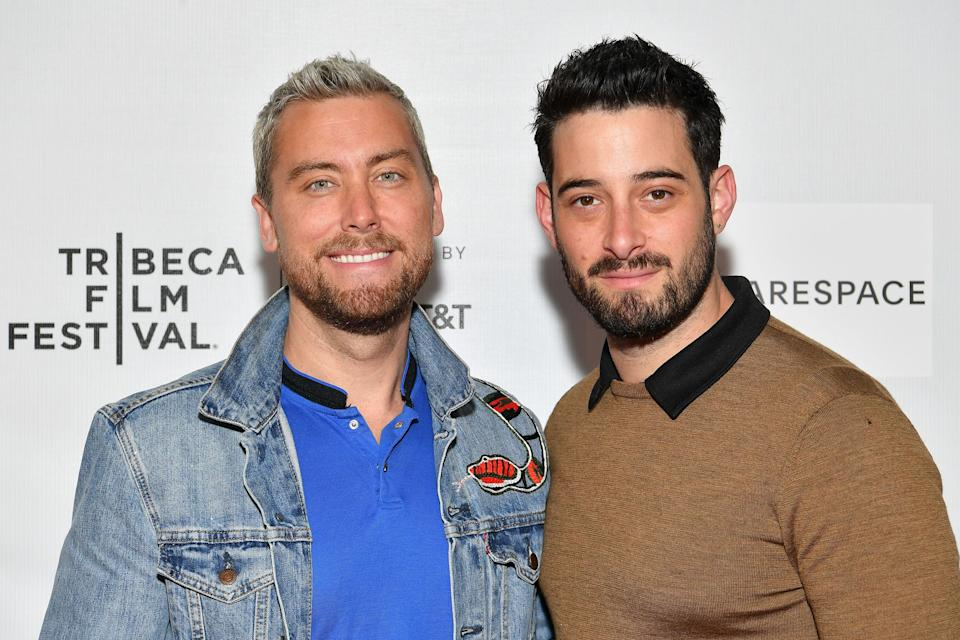 Lance Bass (left) and Michael Turchin married in 2014. (Photo: Dia Dipasupil via Getty Images)